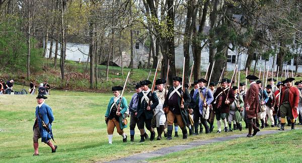 Colonial reenactors for the Tower Park Battle in Lexington