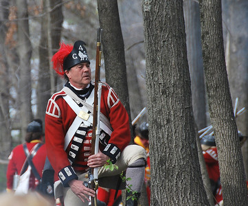 British Troop Reenactor at the Tower Park Battle in Lexington