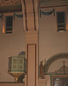 Mission Santa Clara, interior detail.