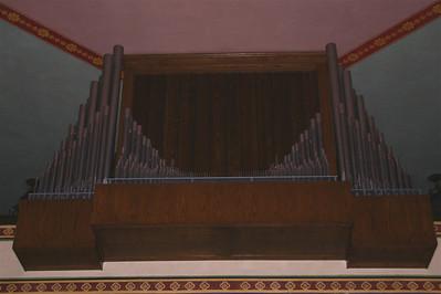 Organ pipes. Mission Santa Clara.