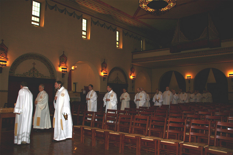 The Jesuits from the University Jesuit Community process in.
