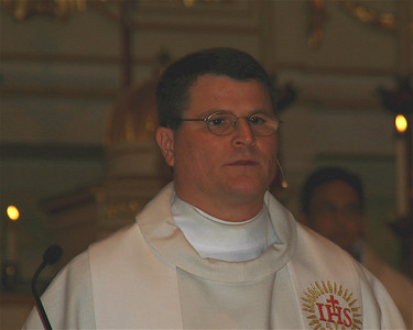 """Father Mariani gave the homily. He explained why he chose Candlemas.  Besides the profound significance of the presentation of Our Lord in the temple, in which """"something was given, and something received,"""" he had another big reason. He is a scholar of Chinese history. And he found in the lists of Jesuits who had served in China, one priest after another had also chosen this day for their vows, since this feast that ends the Christmas seaon celebrates Christ's light of revelation to the gentiles and the glory of His people Israel. Lumen ad revalationem gentium et gloriae plebis tuae Israel."""