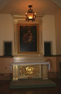 St. Joseph and the Christ Child. Altar at Mission Santa Clara.