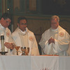 Fr. Mariani, along with the Rector of Santa Clara University, and their Provincial, concelebrated with another priest.