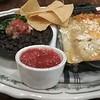 Enchiladas and black beans