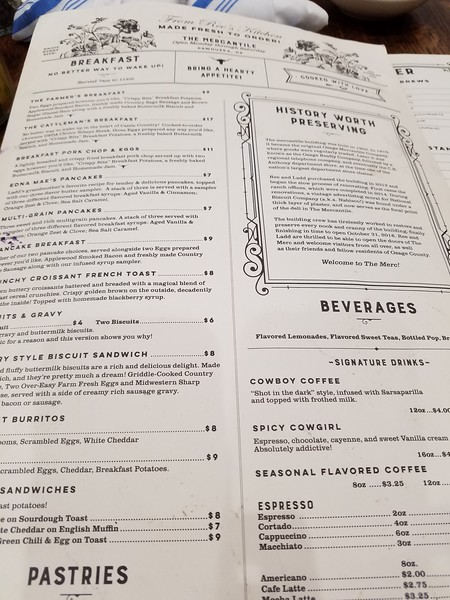 Pioneer Woman Ree Drummond restaurant menu