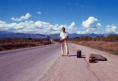 Fred Corvi hitch hiking to San Pedro Sula, Honduras 1979