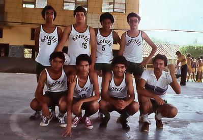 Goretti School in Choluteca, Honduras Volleyball Team with Coach Fred Corvi, Peace Corps Volunteer 1979