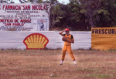Bob Riley playing baseball in Choluteca, Honduras 1979