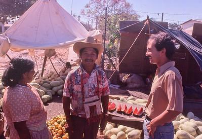 Joe Lombardo in Choluteca market