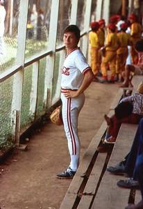 James Keller playing baseball in Choluteca in 1979