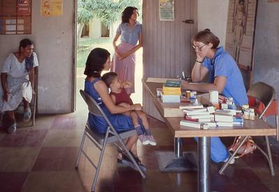 Terry Riley at Well-Baby Clinic at ASJO in Choluteca, Honduras