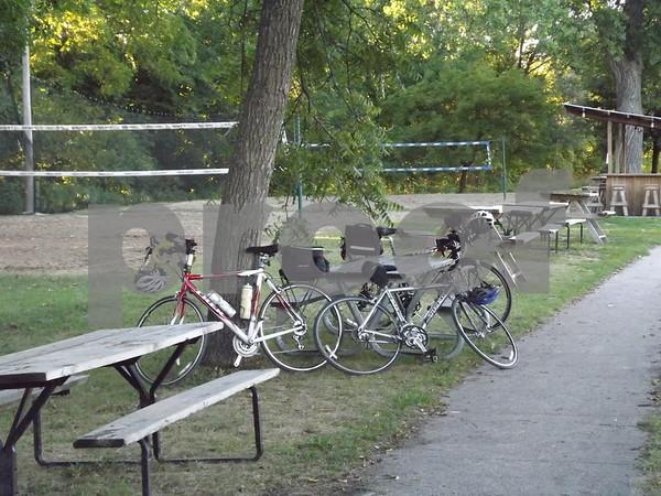 Bikes lined up at Amigos.