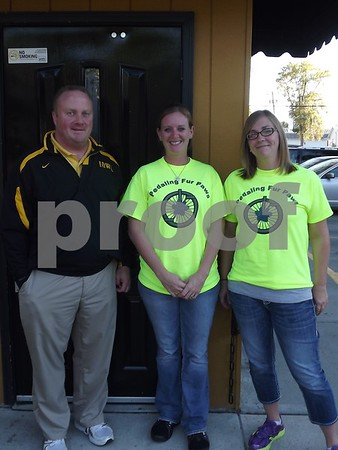 Steve Fuller(owner of Lefties), Tania Elliott, and Sarah Adams.