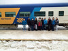 Fort Albany Drum Group at Moosonee Train Station on way to Thunder Bay.