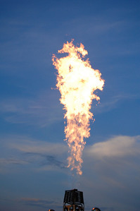 Pennington Hot Air Balloon Championship 2009 - If you look close enough the tip of the fire looks like a dragon.