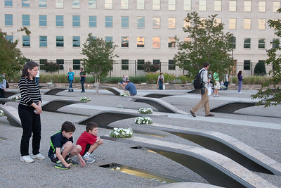Returning to Todd Reuben's bench to contemplate, before leaving. -- Tenth Anniversary of September 11, 2001 (9-11-11) at the Pentagon Memorial