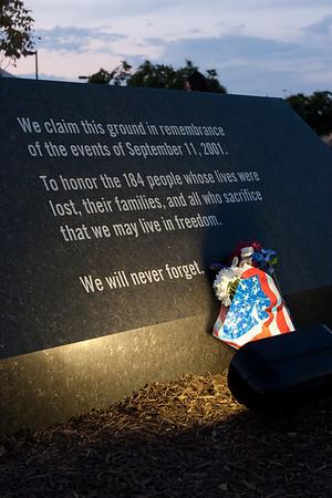 Pentagon Memorial: Tenth Anniversary of September 11