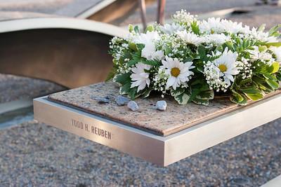 Bench for Todd Reuben, 40 year old son of very close family friends of Sheryl's parents. Todd was aboard Flight 77. -- Tenth Anniversary of September 11, 2001 (9-11-11) at the Pentagon Memorial