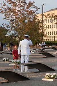 Tenth Anniversary of September 11, 2001 (9-11-11) at the Pentagon Memorial