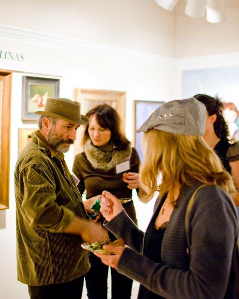 The Fine Arts League of the Carolinas at the November 2010 opening at 16 Patton. Vadim Bora