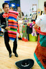 Mexican dancers perform in colorful costumes at the Mountain BizWorks Holiday Bazaar on December 3rd 2010 in Asheville NC