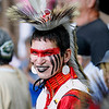 Record-Eagle/Jan-Michael Stump<br /> Gabriel Yellowthunder (cq) waits for the Grand Entry in Saturday's Peshawbestown Traditional Pow Wow.
