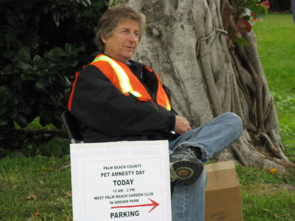<b>Pet Amnesty Day, January 14, 2012</b> Dave Conley directing Traffic