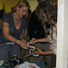 <b>Pet Amnesty Day, January 14, 2012</b> Krysti and Christen with one of the smaller snakes