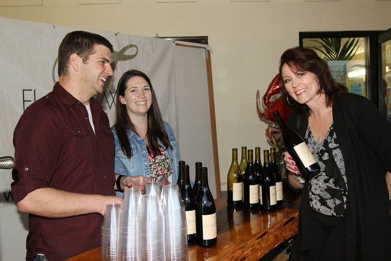 Jordan James and Shelby Nelson of Flocchini Wines (donted their services and wine) with Krista Gawronski of The Fabulous Women at the Boys and Girls Club of Marin and Southern Sonoma Counties held on Saturday, January 25 2014