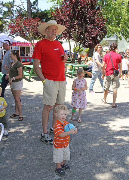 Kids young and old enjoy themselves at The Great Petaluma Chili Cookoff, Salsa and Beer Tasting held at Herzog Hall in the Sonoma-Marin Fairgrounds on Saturday May 12, 2012. Photo by Victora Webb