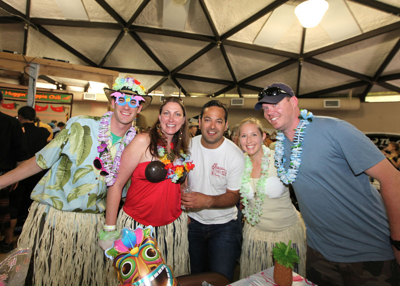 Members of the Active 20-30 club at The Great Petaluma Chili Cookoff, Salsa and Beer Tasting held at Herzog Hall in the Sonoma-Marin Fairgrounds on Saturday May 12, 2012. Photo by Victora Webb