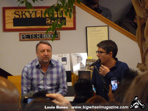 "Peter Hook - ""Unknown Pleasures"" Book Event - at Skylight Books - Los Angeles, CA - February 1, 2013"