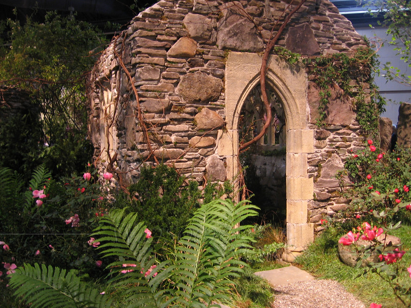 """""""Ancient"""" stone chapel was built right inside the convention center!"""