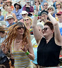 Audience members dance as The Wallace Brothers band performs during an afternoon concert at the 53rd Annual Philadelphia Folk Festival on Friday August 15,2014. Photo by Mark C Psoras/The Reporter