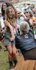 Angela Cincotti and audience members dance as The Wallace Brothers band performs during an afternoon concert at the 53rd Annual Philadelphia Folk Festival on Friday August 15,2014. Photo by Mark C Psoras/The Reporter