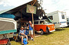 John Lee, left, and Dave Dougherty make their own music in the camping area at the Philadelphia Folk Festival in Upper Salford.    Thursday, August 14, 2014.   Photo by Geoff Patton