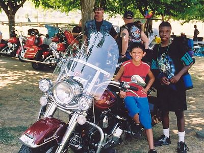 Kids with Phil's Bike