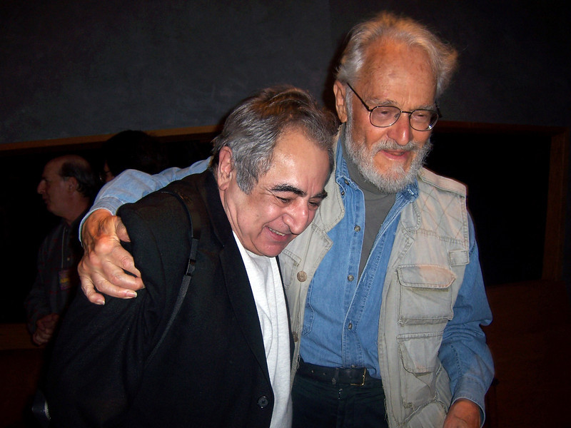 """Jim Marshall and writer Herb Gold.<br /> <br /> """"Herb studied philosophy at Columbia University and became involved with the burgeoning Beat Generation, which resulted in a lifelong friendship with poet Allen Ginsberg. Soon he won a Fulbright Scholarship and moved to Paris, where he finished his first novel. I think he's published over 40 books since.<br /> <br /> Herb is an analog guy and you can't visit his website and he can't visit yours. Best to lure Herb to lunch."""