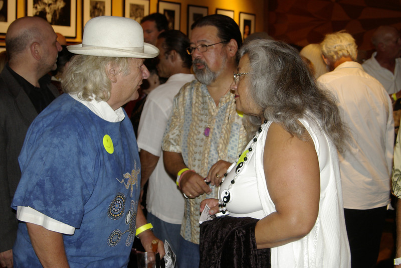 Wavy Gravy with his  art curators- Vince and Gloria Di Biase  of Vinglo