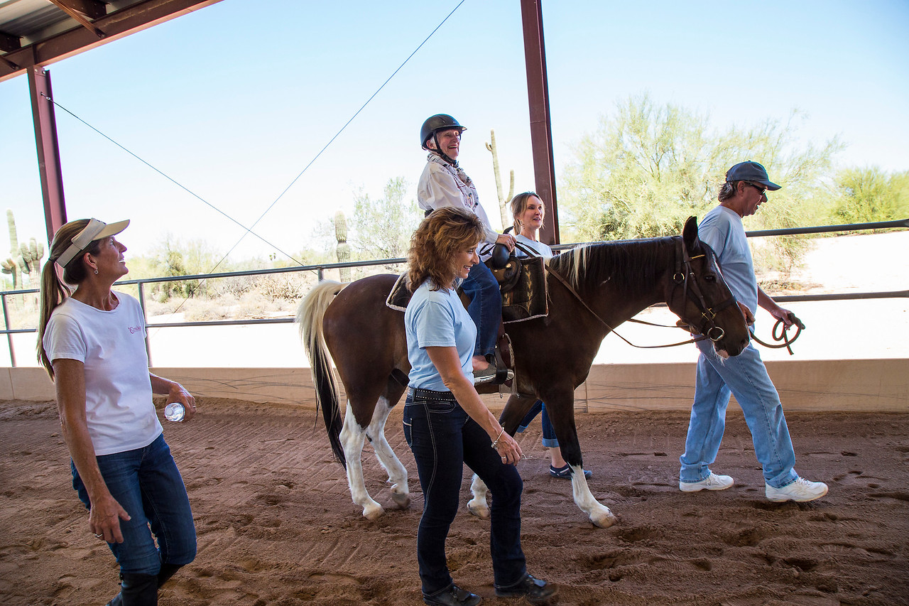 Wish of a Lifetime - Pat Horseback Riding