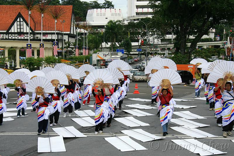 Rehearsal at Dataran Merdeka.