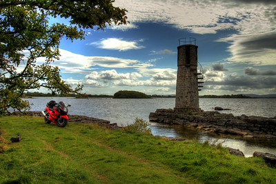 20. Mayo Ballycurrin light house, Lough Corrib - unpaved road through gate; 4K SW of Glencorrib (Cross - Headford road)