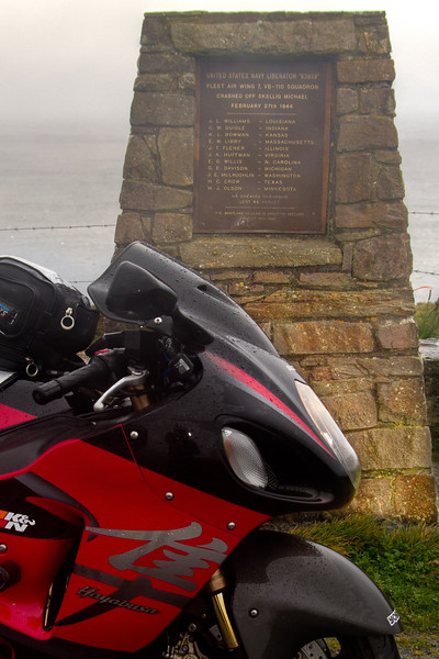 19. Kerry<br /> Liberator monument, St Finnan's Bay – 12K S of Portmagee (Overlooking the Skelligs)