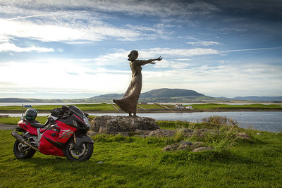"""21. Sligo """"Waiting on shore"""" monument; Rosses Point"""