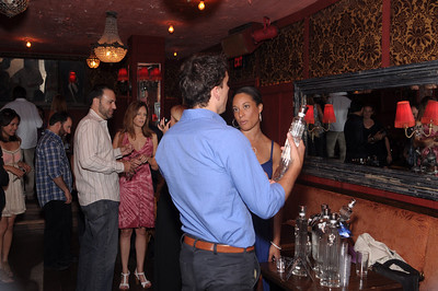 Photo Gallery of vodka tasting from 12 vendors including ISVodka is vodka at Los Angeles hotspot Bar Lubitsch. Bar Lubitsch is heavy on the Russian theme with servers in red jumpsuits, propaganda posters on the wall, clear glass chandeliers and 200 kinds of vodka. It is definitely a refuge hangout for vodka lovers. Do not forget to go to the back room the Red Room where DJs will keep you dancing. Bar Lubitsch is a destination where everyone can get their vintage vibe on. Bar Lubitsch location 7702 Santa Monica Blvd., West Hollywood, CA 90046 (323) 654-1234 Photographs by Antonio Carrasco for ISVodaka. Reach Antonio at www.IntensityStudios.com