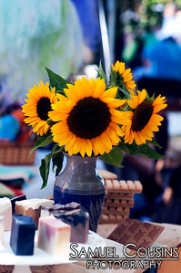 Sunflowers and other flowers for sale at Picnic Festival