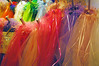 Colorful veils for sale at the market