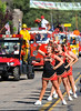 Mountain Empire High School Cheerleaders at perform in the Pine Valley Days Parade