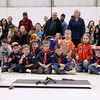 Record-Eagle/Keith King<br /> Spectators and members of the Tiger Cub Den look on Saturday, April 14, 2012 during the Boy Scouts of America Bay Trails District Pinewood Derby Finals at the United States Coast Guard Air Station Traverse City hangar.